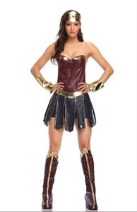 Nuovi costumi europei e americani di Halloween Wonder Woman Cosplay Costume Justice League Gladiatore uniforme spedizione gratuita