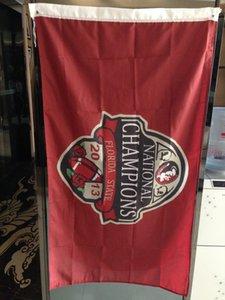 Florida State University Bandeira Seminoles Bandeira NCAA 3x5FT 150x90cm 100D Poliéster Impressão Hanging Bandeira com latão Grommets frete grátis