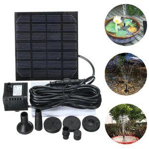 샘 정원 작은 유형 태양 에너지 샘 수영장 정원 조경 수족관 수도 펌프를위한 태양 물 무 브러시 수도 펌프