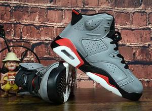Scarpe per bambini Scarpe Atletica bambini J6 PSG pallacanestro 3M refletive Grey 6S sneakers sport per Boy ragazza del bambino Chaussures Eur28-35 01