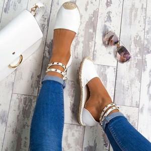 NOUVELLES Femmes Sandales Chaussures D'été Confortable Faux Suede Plat Confortable Taille 35-43 Chaussures Casual Zapatos Mujer Taille 35-43 YP-87