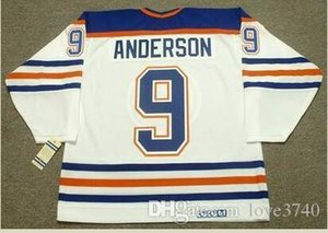 Custom Men Youth women Vintage #9 GLENN ANDERSON Edmonton Oilers 1987 CCM Hockey Jersey Size S-5XL or custom any name or number
