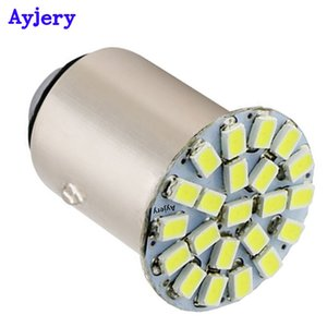 AYJERY Wholesale 300 PCS S25 22 SMD 1156 BA15S p21w 1206 Auto Car Turn Lights Rear LED Auto Bulbs 22 LED 12V White Yellow Red