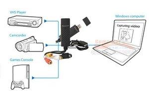 New EasyCAP USB 2.0 TV DVD VHS Video Audio AV-Capture Empia2860 Chipsatz