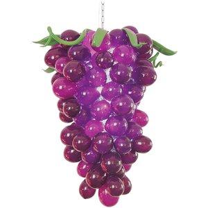 Cuisine Décor moderne Pendant Chandelier Hot Vente Lustre en verre soufflé à la main Art Made Grape Lumières Livraison gratuite