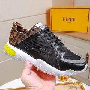 Zapatos de los hombres ocasionales de la manera Zapatos de hombre con caja de zapatos de lujo de los hombres Negro Tech Fabric Low-tops zapatillas de deporte para hombre de la moda Tipo Chaussures