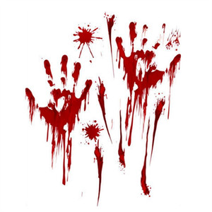 Horror Bloody Handprint Footprint Decal Creepy Sticker