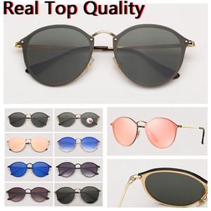 Para mujer gafas de sol para hombre de las gafas de sol de moda las gafas de sol sin montura eyeware incendio modelo uv lentes con caja protect caso de cuero libre