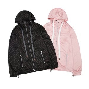 Designer Mulheres jaqueta corta-vento do bolso da forma Letters Imprimir Mens outono Casal Luxo Brasão Mens novíssimo Hoodie tamanho M-2XL