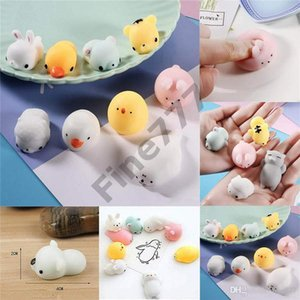 Animales Cute Kawaii Squishy Slow Rising Toy Bun Toys Squeeze Cartoon Toy Mini Squishies Cat Squishiy Fashion Rare Animal Gifts