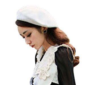 NIBESSER Warm Beret Women Wool Winter Beanie Hat Solid Women's Girl's Beret Female French Black White Gray Pink Boinas De Mujer
