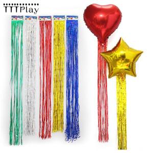 5pcs / lot or argent gland rideau rideaux film en aluminium pour ballon mariage fournitures fournitures anniversaire décoration fête