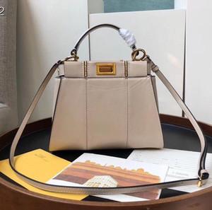 Yeni kadın Tasarımcı lüks çanta siyah hakiki deri crossbody çanta otantik en kaliteli marka bayanlar omuz çantaları 23cm totes bej