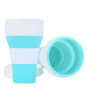 450ml Silicone Folding Glass Travel Portable Coffee Cup Heat Insulation Humanized Design High Temperature Resistance Multicolor Drinkware