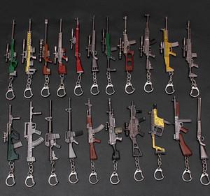 لعبة PUBG Playunknown's Battlegrounds Gun نموذج المفاتيح البسيطة تأثيري مفتاح سلسلة مفتاح خواتم الأزياء والمجوهرات شحن مجاني