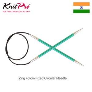 1 штука Knitpro Zing 40 см фиксированная круглая вязальная спица
