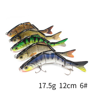 Fishing Lure Multi Jointed Hard Bait 12cm Lifelike joint bait Wobblers 6 Segments Swimbait Fishing Lure Crankbait