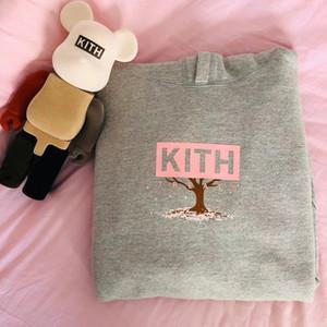 Fashion-Tokyo Le Hanami Sakura Box Logo Sweatshirt à capuche Sweat à capuche Chemise Pull gris rose Homme Femme Couple Rue HFHLWY108