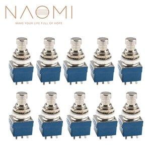 NAOMI 10 PCS 9 Pinos 3PDT Pedal de Efeitos de Guitarra Caixa Stomp Interruptor De Metal Pé Verdadeiro Bypass Peças de Guitarra Acessórios Novo