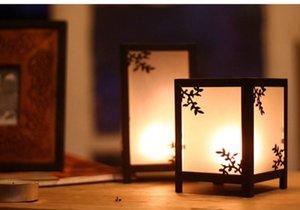 Estilo europeo retro-nostalgia Iron Art Glass Candelabro creativo lámpara de viento hogar romántico hotel decoraciones de mesa