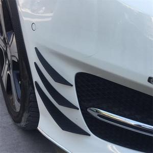 Hot 6Pcs Universal Carbon Fiber look voiture pare-chocs avant Palmes Aileron Wing Chin Lip Splitter Accessoire U Valence Chin Car Tuning Canard