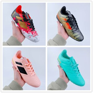 Nueva llegada BPredator Tango 18.4 zapatos de fútbol TF deportivo Para Rosa Rojo Azul Negro Hombres Mujeres zapatillas de fútbol para hombre Formadores Formación 36-44