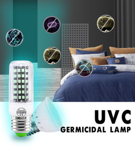 E27 GU10 UV germicida lâmpada Esterilizado UVC luz ultravioleta Para Quarto 110V 220V Desinfecção Esterilizador a DHL