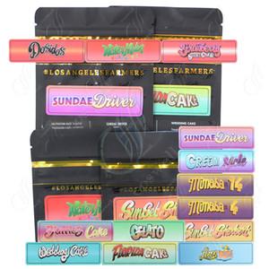 Nuove Jungle Ragazzi 3.5g 7.0g Dimensioni Zipper Smell Borse Proof Bag Imballaggio Secco Erba aromatica, Fiore Hearbal pacchetto con Sapori Sticker codice di sicurezza