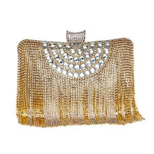 Diseñador-moda lady cadena bolsa de rhinestones con cuentas pequeño hombro tassel bolsos tarde para cluth mujeres bolso fiesta fiesta boda xpsun