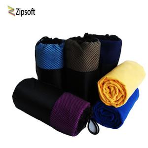 Zipsoft Beach towels Square Fabric Mesh Bag Quick-drying Travel Sports towel Blanket Swimming Camping Yoga Mat 2017 Microfiber
