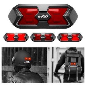 Motorcycle Helmet Night Light Strip Safety Signal Warning Light Universal LED Motorbike Helmet Taillight For Bicycle