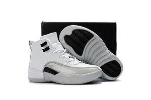 2020 nouvelle XII mi haute 12 12S NOIR BLEU ROUGE enfants chaussures de basket-ball garçon fille enfant jeunesse du sport Sneaker taille 28-35