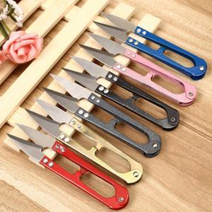 Multicolor Taglio cucito forbici pinze Ferro di cavallo Filati Cutter in acciaio inox ricamo artigianale forbici trasporto libero multicolore