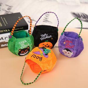 Halloween Décoratif Accessoires Portable citrouille Bonhomme De Neige Lantren Panier Cadeau Sac De Bonbons Panier Traiter Ou Trick Sac Seau