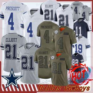 Dalla 4 Dak Prescott Cowboy Fußball Jersey 21 Ezekiel Elliott 54 Jaylon Smith 82 Jason Witte Leighton 55 Leighton Vander 90 Lawrence