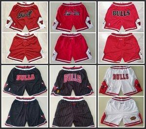 2019 nuevos hombres de ChicagotorosBaloncesto cortos Nueva transpirable pantalónNBA blanca pantalones cortos Rojo Negro