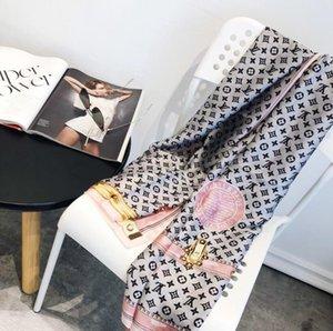 2020 العلامة التجارية وشاح الحرير الساخن بيع الأزياء أعلى جودة مصمم رسالة الزهور والأوشحة نمط النساء شال حجم 180x90cm سفينة حر