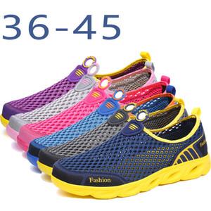Zapatos que suben para los hombres antideslizante y resistente a la abrasión de playa del verano calza los zapatos de agua amante Turismo vadear al aire libre para las mujeres