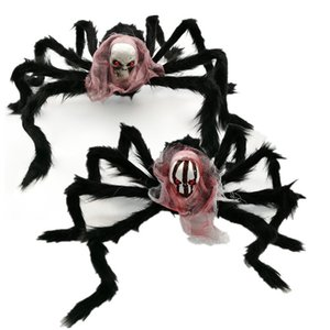 Simulación de la araña de Halloween cráneo Araña Bar de la casa encantada del horror del ornamento de Halloween Horror Party Decor Home Decor horror Puntales