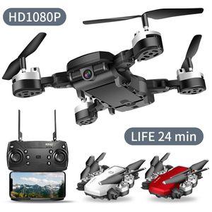 Drone 4K RC Quadrotor com câmera dobrável FPV Wifi Quadrocopter Grande Angular Reter RC Helicopter selfie Drone Professional