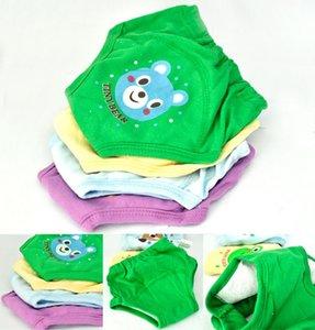 4 개 아기 신생아 소녀 소년 귀여운 4 레이어 방수 사소한 훈련 바지 바지 아기 어린이 의류면 재사용
