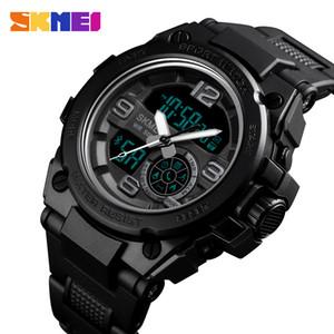 SKMEI intelligent Sport Montre Homme Bluetooth Infocentre numérique Montres 5bar étanche Hommes duales Affichage Montre Reloj 1517