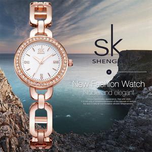 Shengke Nouveau Femmes Mode montre-bracelet de diamant d'or Bracelet Montres Femmes Marque Mesdames Bijoux Quartz Horloge Reloj Mujer 2017