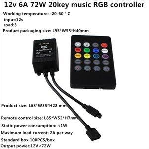 1 stücke LED Musik IR Controller DC 12 V 20 Tasten IR Fernbedienungen für 3528 5050 2835 RGB LED Streifen Licht Mini Controller