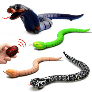 적외선 원격 제어 뱀 모의 가짜 RC 장난감 동물 트릭 참신 Shocke 농담 장난 장난감 키즈 선물