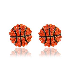Новые Спортивные шарики в форме стержня Серьги кристалл Rhinestone баскетбол бейсбол Регби софтбол волейбол Серьги Для женщин Ювелирные изделия оптом