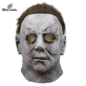 2018 Movie Halloween Horror Michael Myers Mask Carnival Cosplay Adult Latex Full Face Helmet Halloween Party Scary Props Y200103