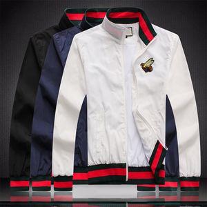 2 brand new men's designer jacket coat luxury sweatshirt long sleeve autumn sports zipper brand windbreaker men's large size 3XL