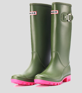 Hot Sale-RAINBOOTS fashion Knee-high tall rain boots England style waterproof welly boots Rubber rainboots water shoes rainshoes