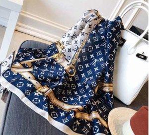 2019 Top Designer Seidenschal Marke Schal Damen weichen super langen Luxus Herbst Schal Warm Baumwolle Schals karierte Tücher